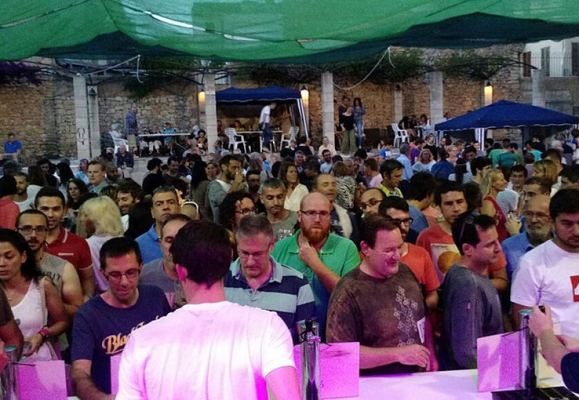anxious faces at arta beer festival