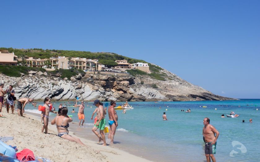 Cala Mesquida from beach