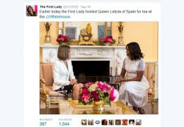 queen letizia and michelle obama