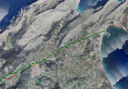 map of the gr221 stage 8