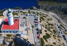 traffic at formentor lighthouse